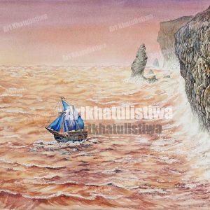 jual lukisan online pinisi 6001