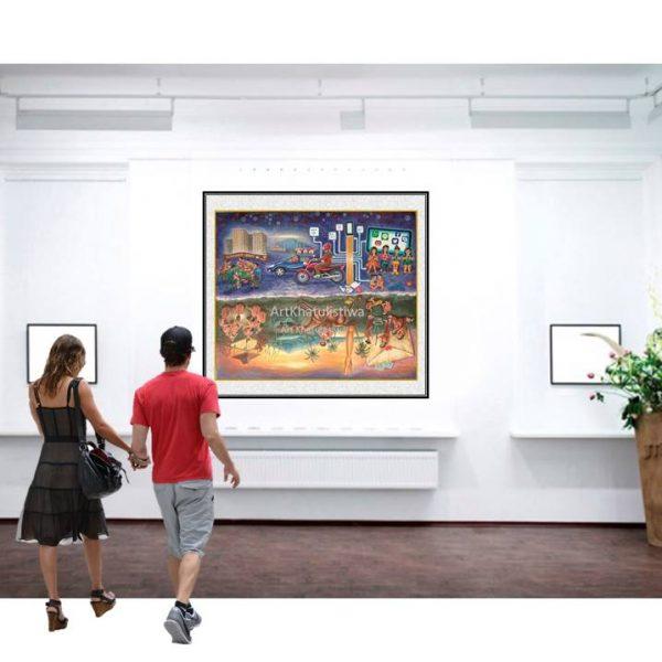 jual lukisan surabaya lukisan kontemporer 10001-1-1