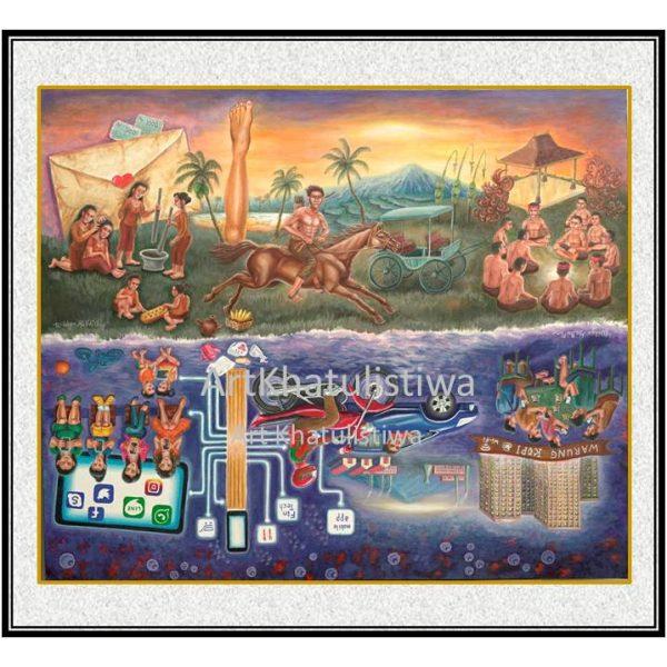 jual lukisan surabaya lukisan kontemporer 10001-1