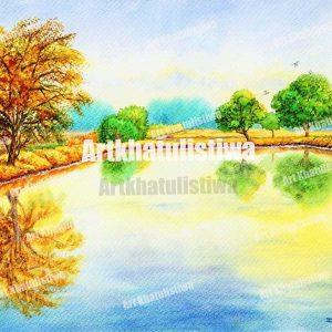 jual lukisan surabaya mangrove 1006