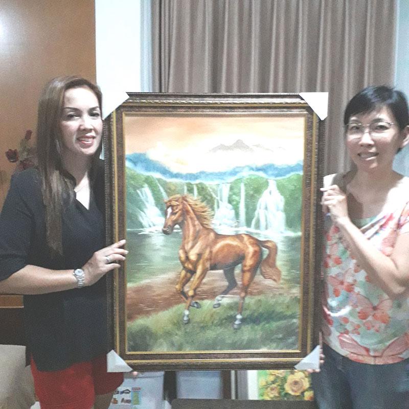 jual lukisan surabaya testimoni lukisan kuda 1