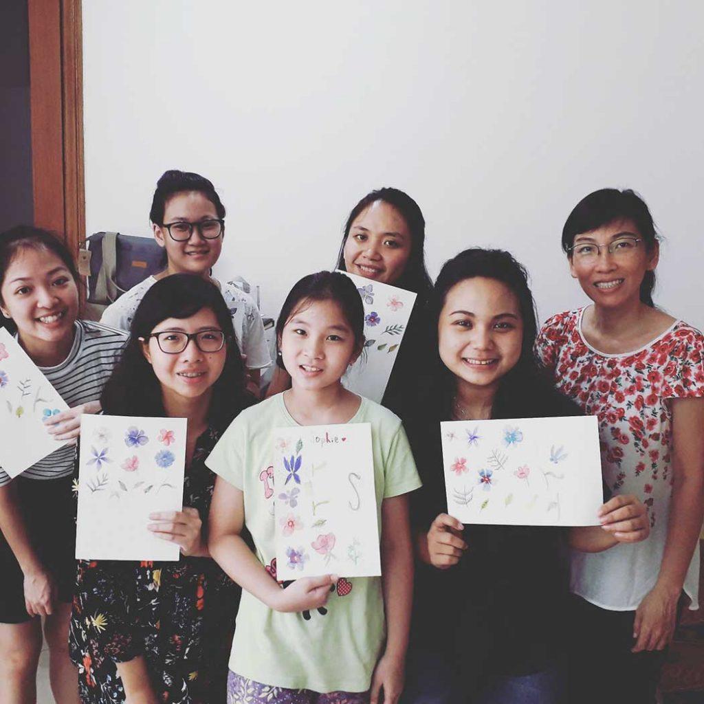 workshop surabaya belajar gambar bunga