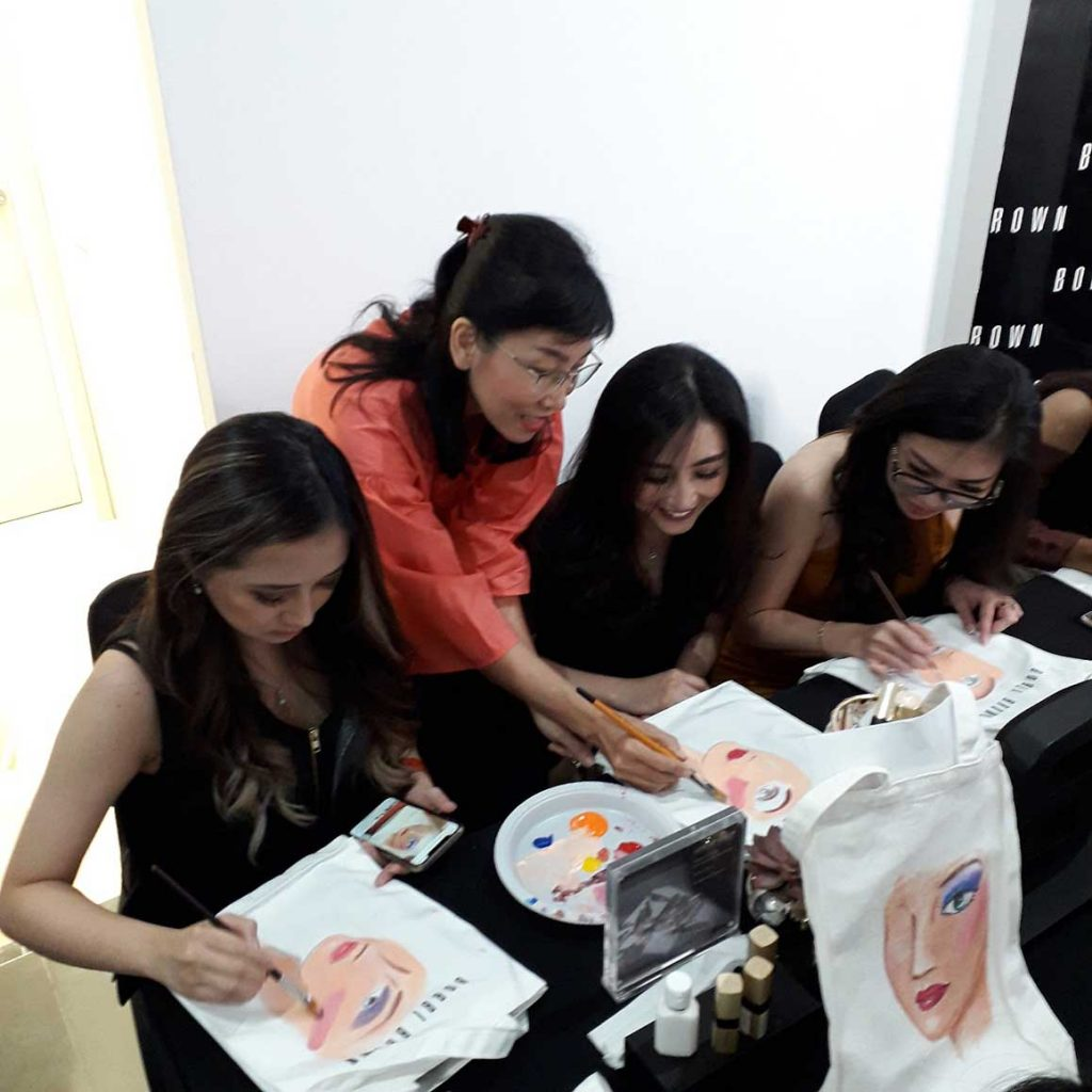 workshop surabaya event opening shop bobbi brown galaxy mall surabaya
