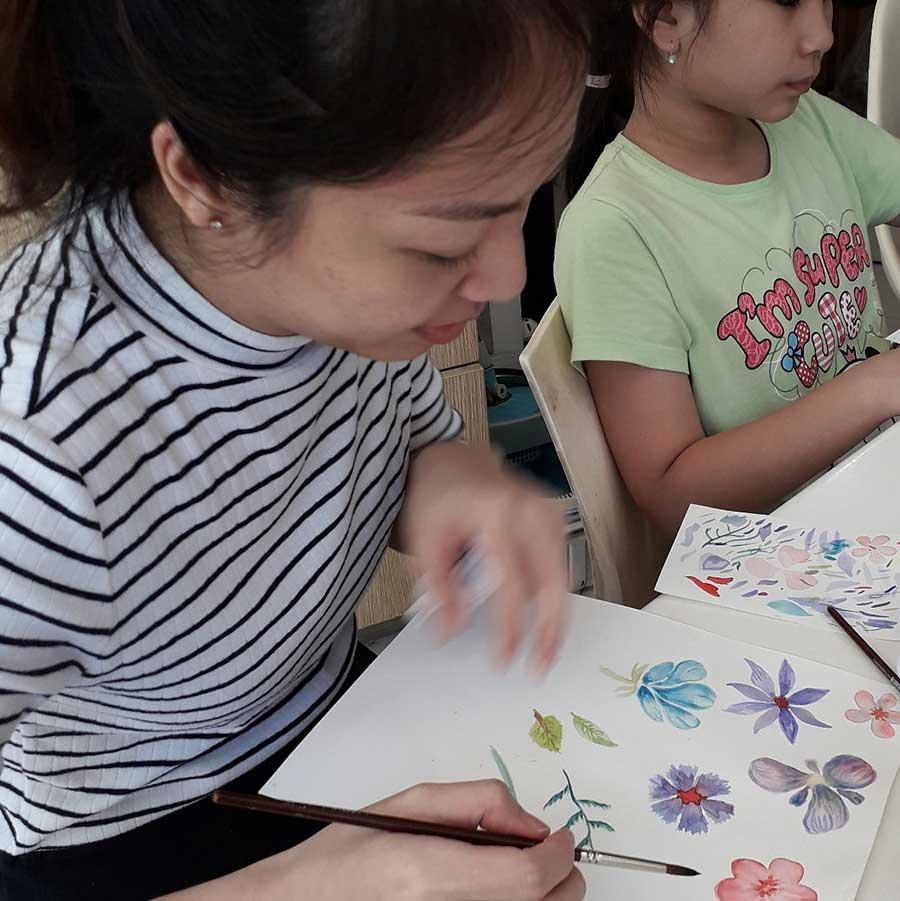 workshop surabaya melukis bunga bagi pemula