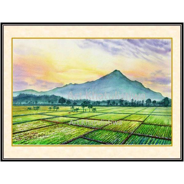 beli lukisan pemandangan gunung welirang 1009-1