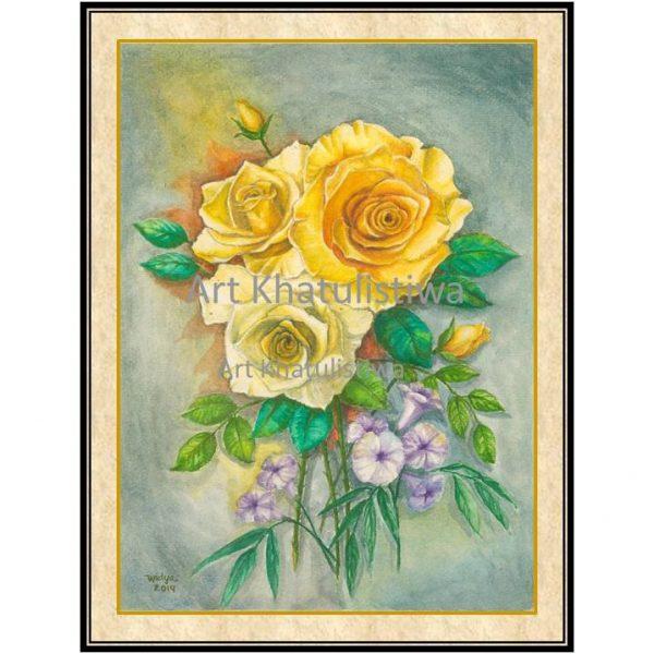 galeri lukisan bunga 4002-1