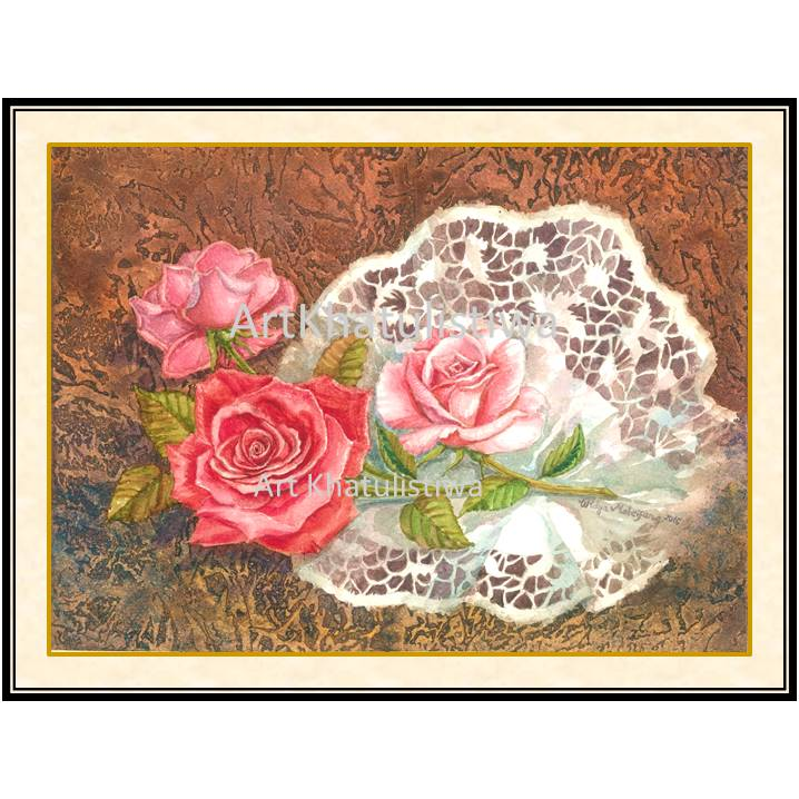 galeri lukisan bunga 4005-1