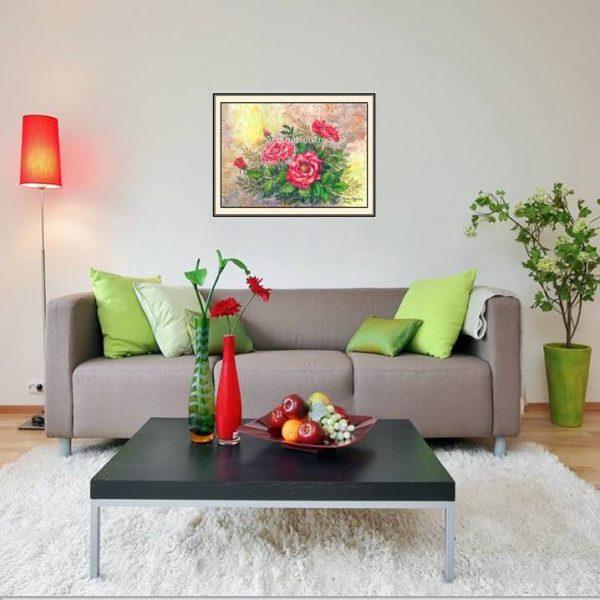 galeri lukisan online bunga 4009-1-1