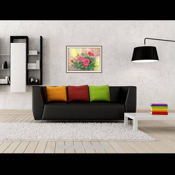 galeri lukisan online bunga 4009-1-2
