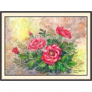 galeri lukisan online bunga 4009-1
