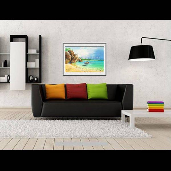 galeri online jual lukisan tanjung tinggi belitung indonesia B207-1-2