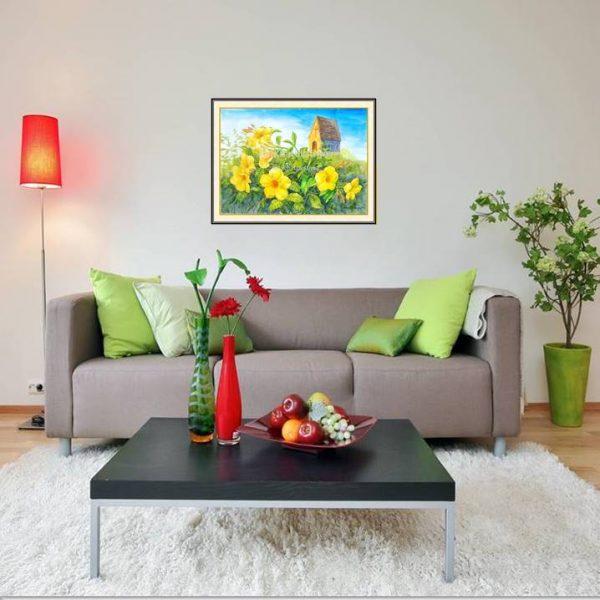 jual lukisan bunga allamanda 4010-1-1