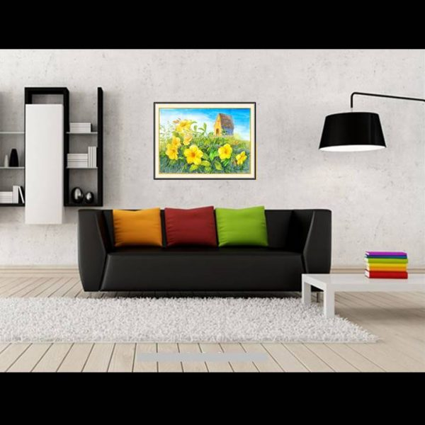 jual lukisan bunga allamanda 4010-1-2