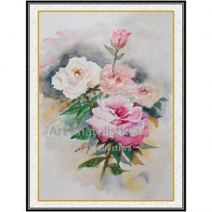 jual lukisan bunga surabaya 4015-1