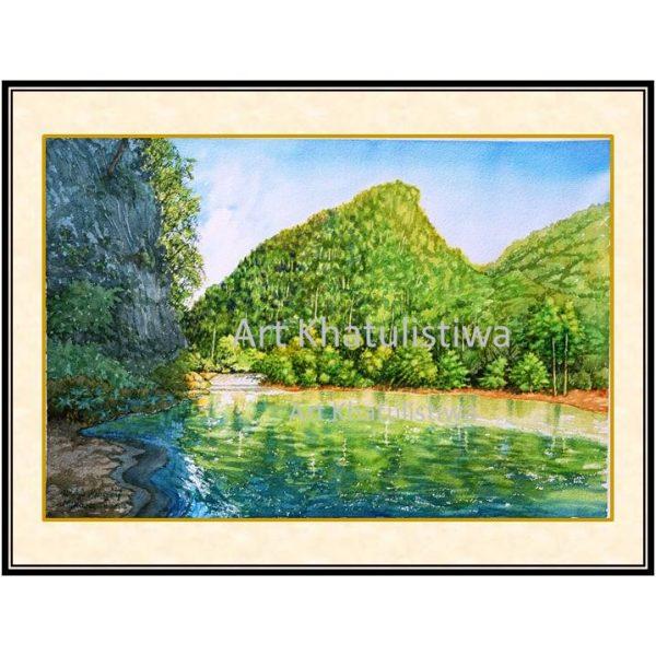 jual lukisan gunung makasar indonesia 1010-1