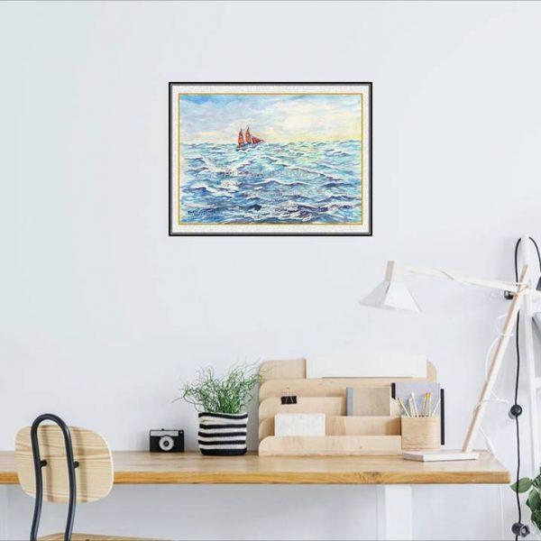 jual lukisan kapal 6005-1-1