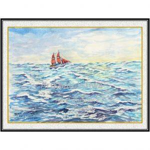 jual lukisan kapal 6005-1