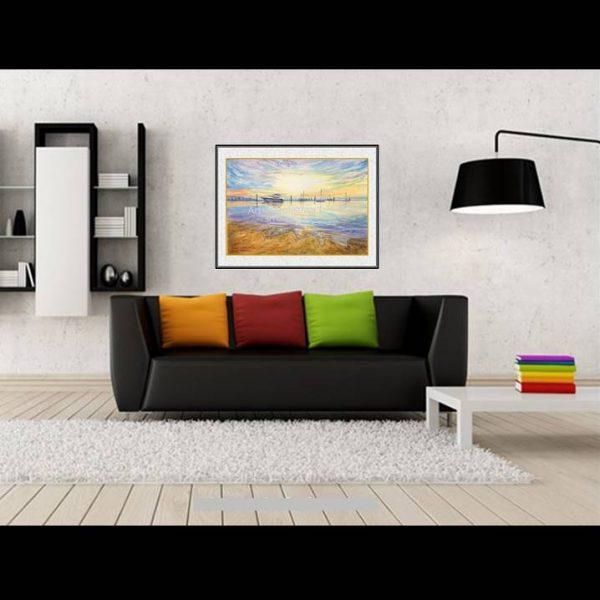jual lukisan kapal minimalis 6006-1-1