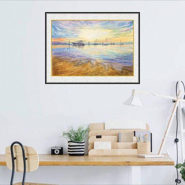 jual lukisan kapal minimalis 6006-1-2