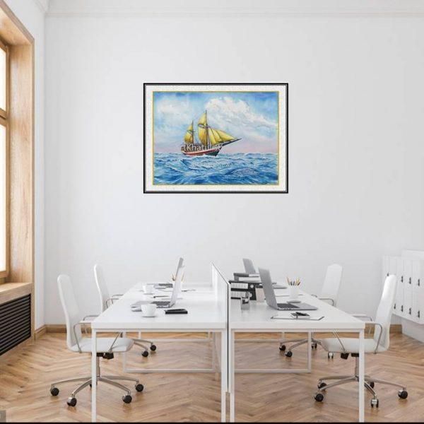 jual lukisan kapal pinisi 6002-1-1