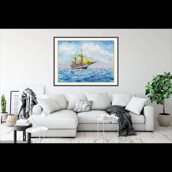 jual lukisan kapal pinisi 6002-1-2
