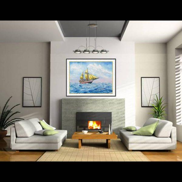 jual lukisan kapal pinisi 6002-1-3