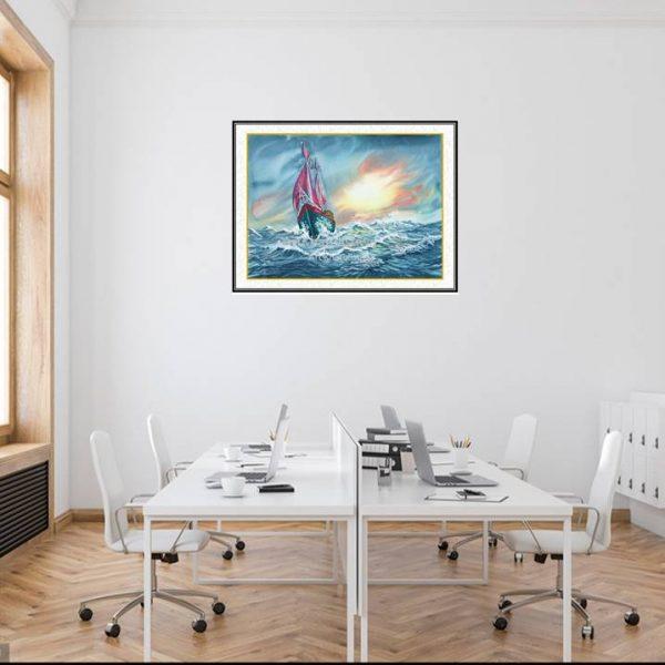 jual lukisan kapal pinisi 6003-1-1