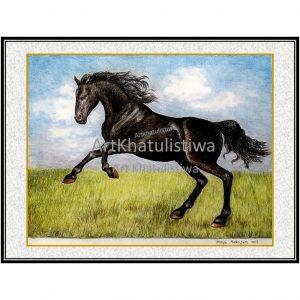 jual lukisan kuda 7013-1