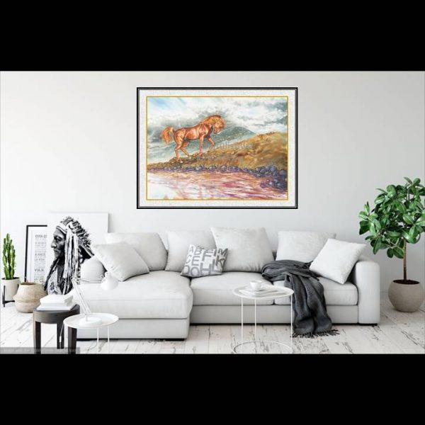 jual lukisan kuda 7003-1-1