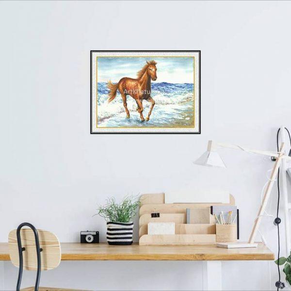 jual lukisan kuda 7007-1-1