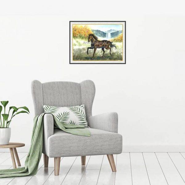 jual lukisan kuda 7008-1-1