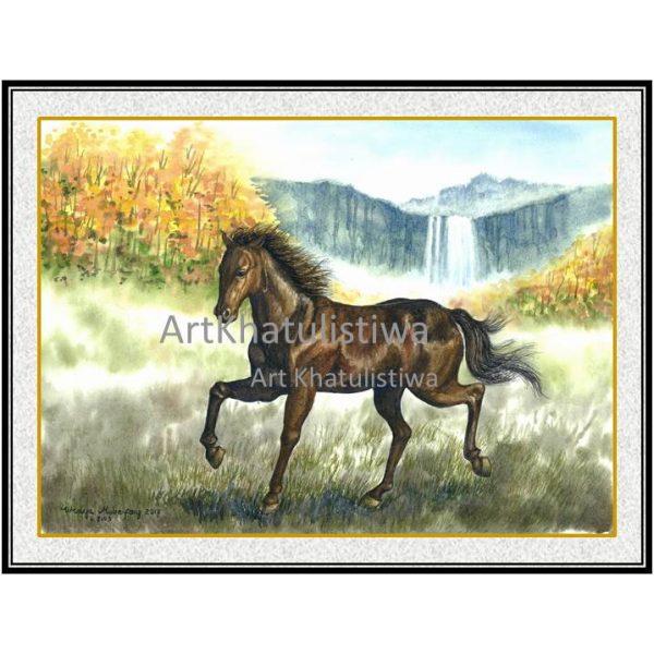 jual lukisan kuda 7008-1