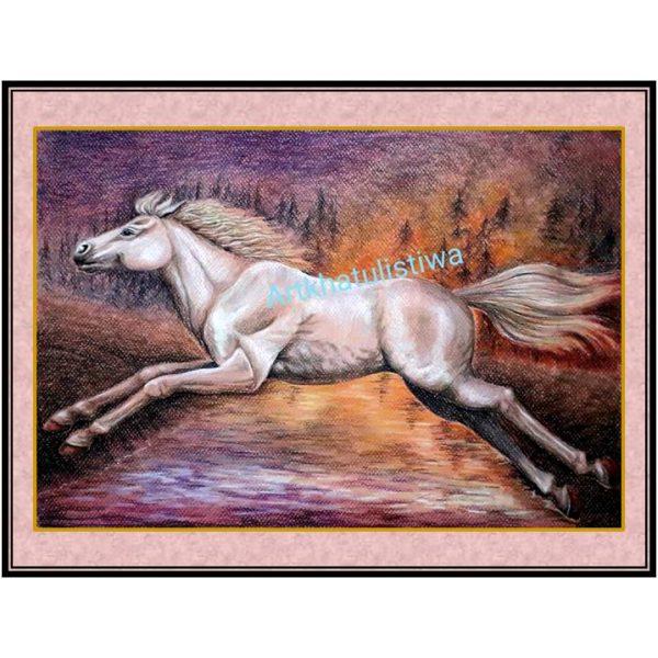 jual lukisan kuda 7012-1