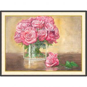 jual lukisan mawar 4013-1