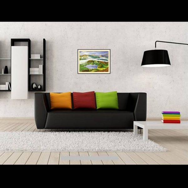 jual lukisan minimalis inggris england B106-1-2