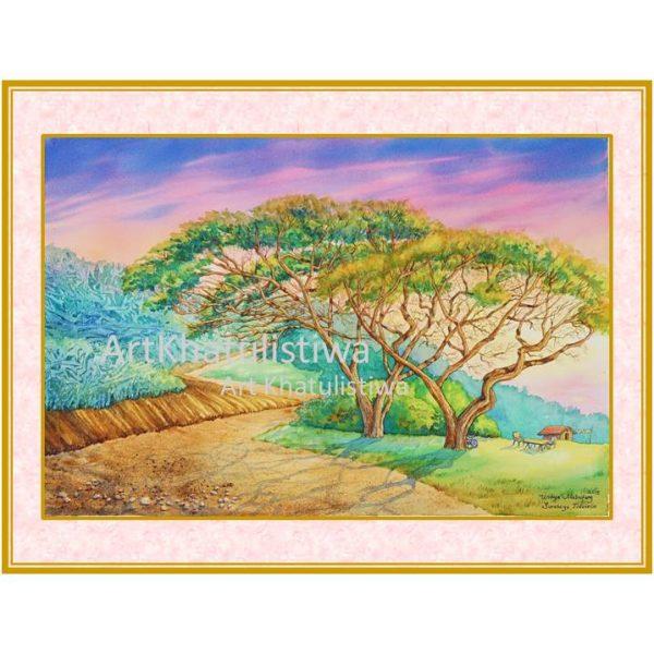 jual lukisan minimalis surabaya 3001-1