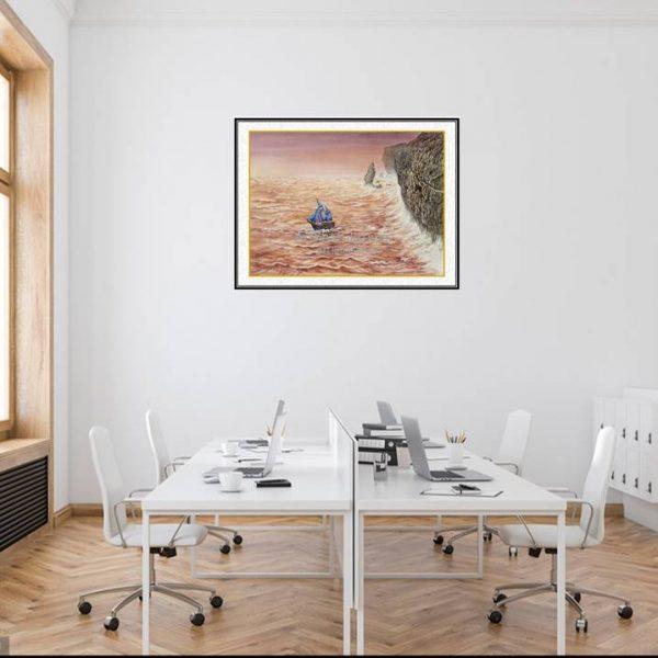 jual lukisan online kapal pinisi 6001-1-1