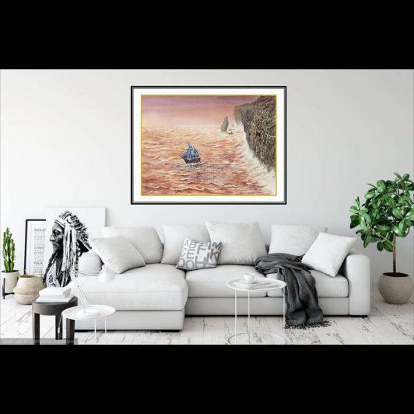 jual lukisan online kapal pinisi 6001-1-2