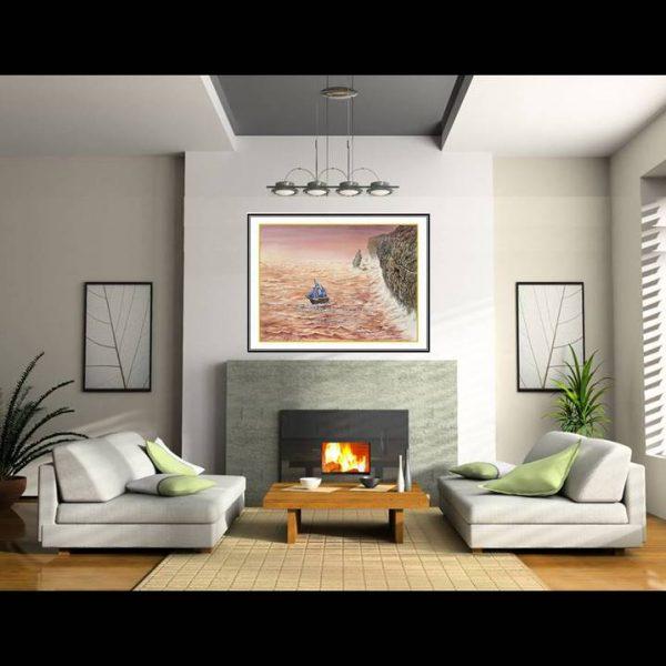 jual lukisan online kapal pinisi 6001-1-3