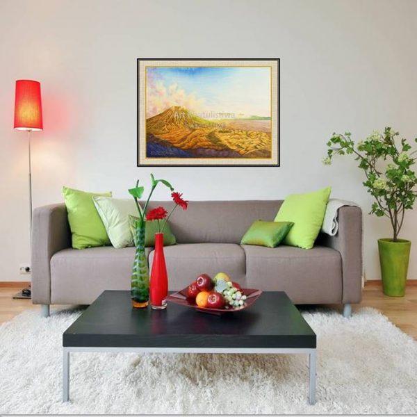 jual lukisan online lukisan gunung bromo indonesia 1013-1-1