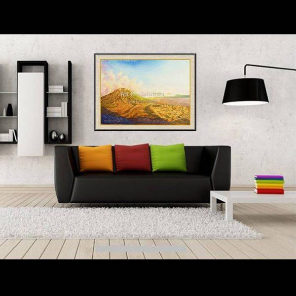 jual lukisan online lukisan gunung bromo indonesia 1013-1-2