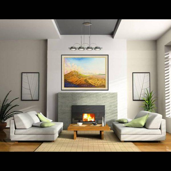 jual lukisan online lukisan gunung bromo indonesia 1013-1-3