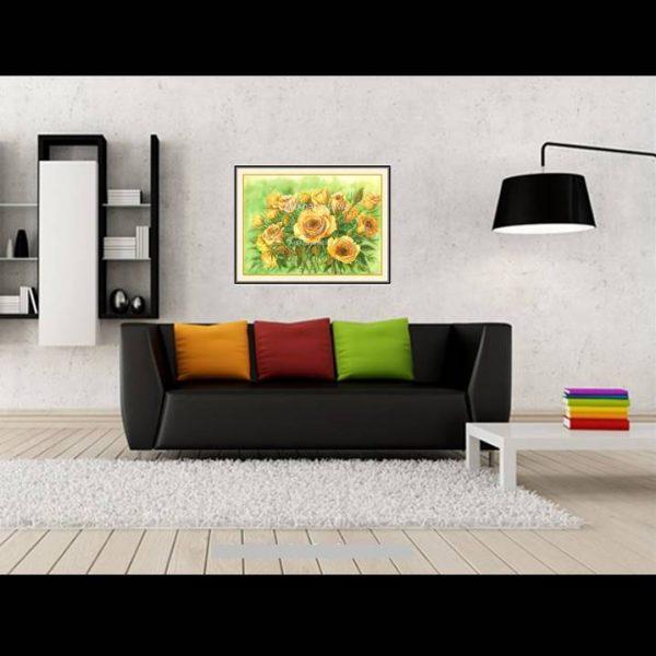 jual lukisan online mawar 4012-1-2