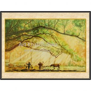 jual lukisan online pemandangan B104-1