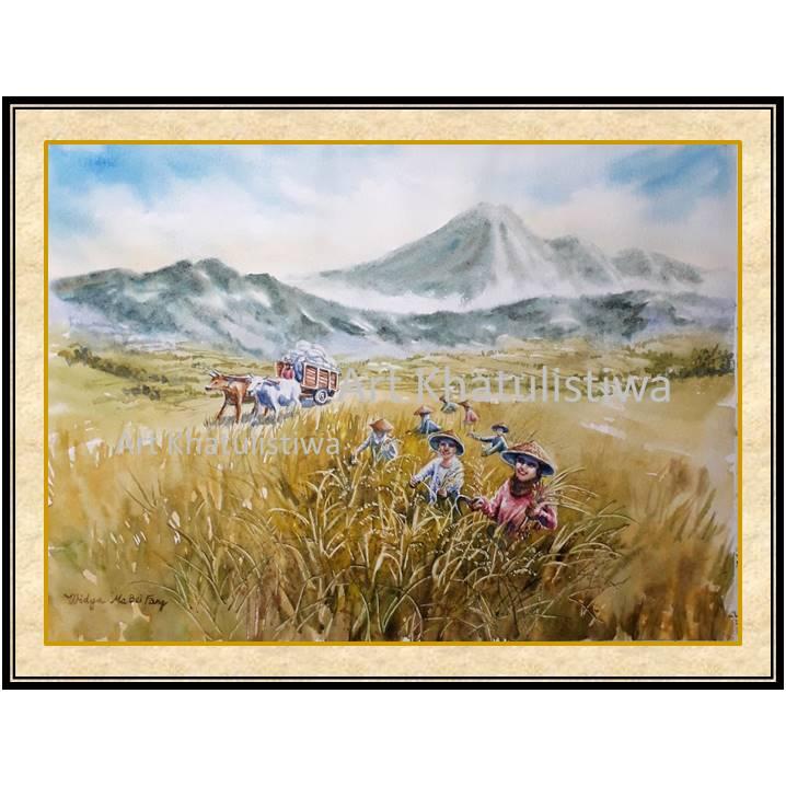 jual lukisan panen 1015-1