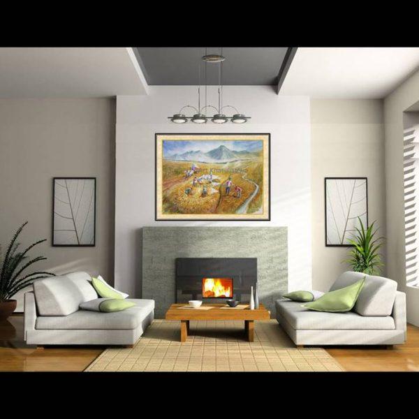 jual lukisan panen 1016-1-3