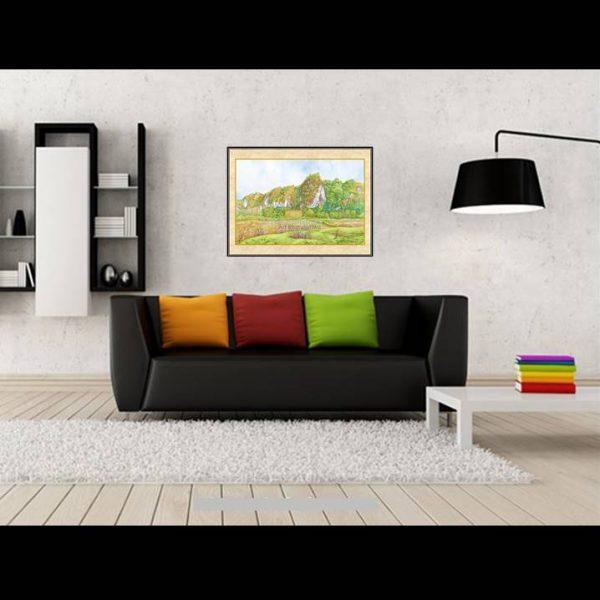 jual lukisan pemandangan alam batimurung 1011-1-2