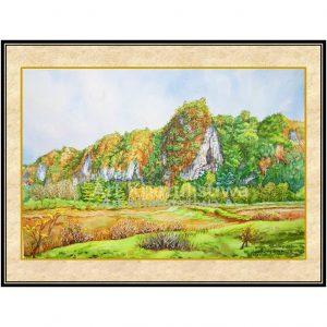 jual lukisan pemandangan alam batimurung 1011-1