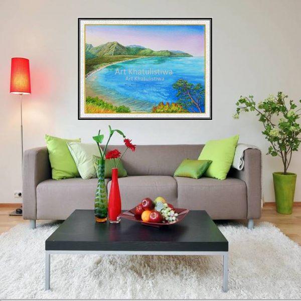jual lukisan pemandangan alam indonesia gili lombok 2017-1-1