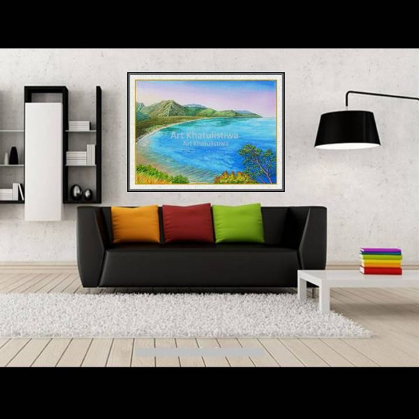 jual lukisan pemandangan alam indonesia gili lombok 2017-1-2